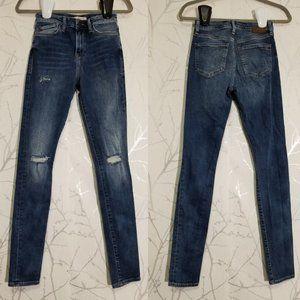 Mavi Distressed Lucy Super High Rise Skinny Jeans